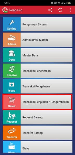 Pilih Transaksi Penjualan untuk Upload Transaksi pada Aplikasi kasir Android iREAP POS PRO