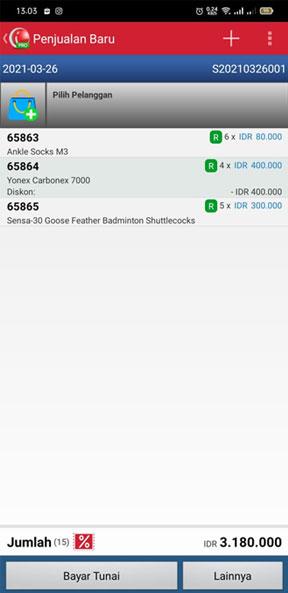 Proses Pembayaran setelah upload Transaksi penjualan di Aplikasi Kasir iREAP POS PRO