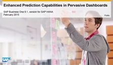 SAP Business One HANA Enhanced Prediction Capabilities in Pervasive Dashboard