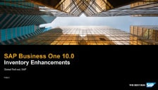 SAP Business One 10 Inventory Enhancements