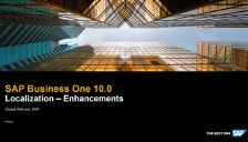 SAP Business One 10 Localization Enhancements
