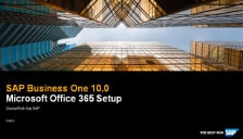 SAP Business One 10 Platform Extensibility - Office 365 Setup