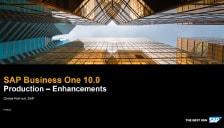 SAP Business One 10 Production Enhancements