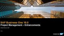 SAP Business One 10 Project Management Enhancements
