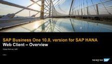 SAP Business One 10 Web Client Version for SAP HANA