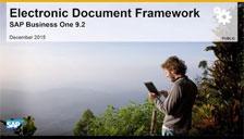SAP Business One 9.2 Electronic Document Framework