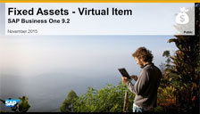 SAP Business One 9.2 Fixed Assets Virtual Item