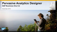 SAP Business One 9.2 Pervasive Analytics Designer