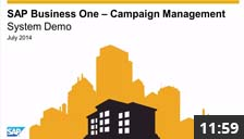 SAP Business One Campaign Management - System Demonstration
