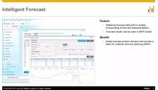 SAP Business One 9.2 Intelligent Forecast