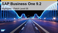 SAP Business One 9.2 Patch Level 04 Highlights