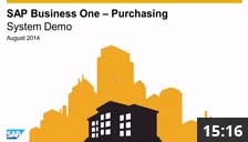SAP Business One Purchasing - System Demo