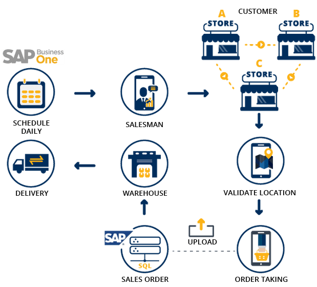 Mobile SAP Distribution Structure