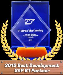 STEM Award Best Development SAP Business One 2013