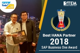 STEM Best HANA Partner 2018 - Award SAP Business One