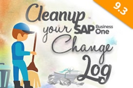SAP Business One Tips - Clean Up Your Change Log