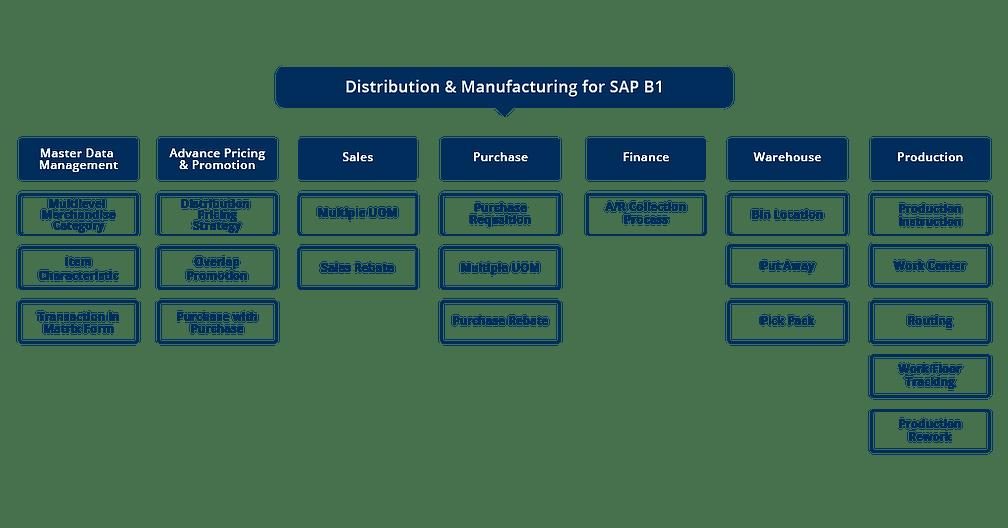 SAP Business One Manufacturing Scheme